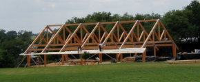 timber truss pavilion